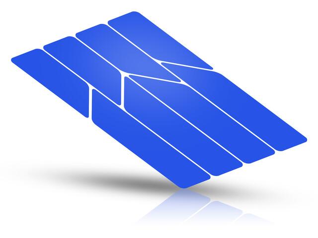 Riesel Design re:flex Autocollant réfléchissant pour cadres, blue